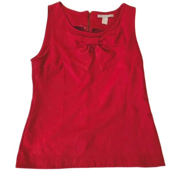 Banana Republic red bow front tank top small